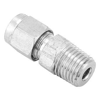 Akozon SS304 - Conector de tubería de acero inoxidable (1/4 ...