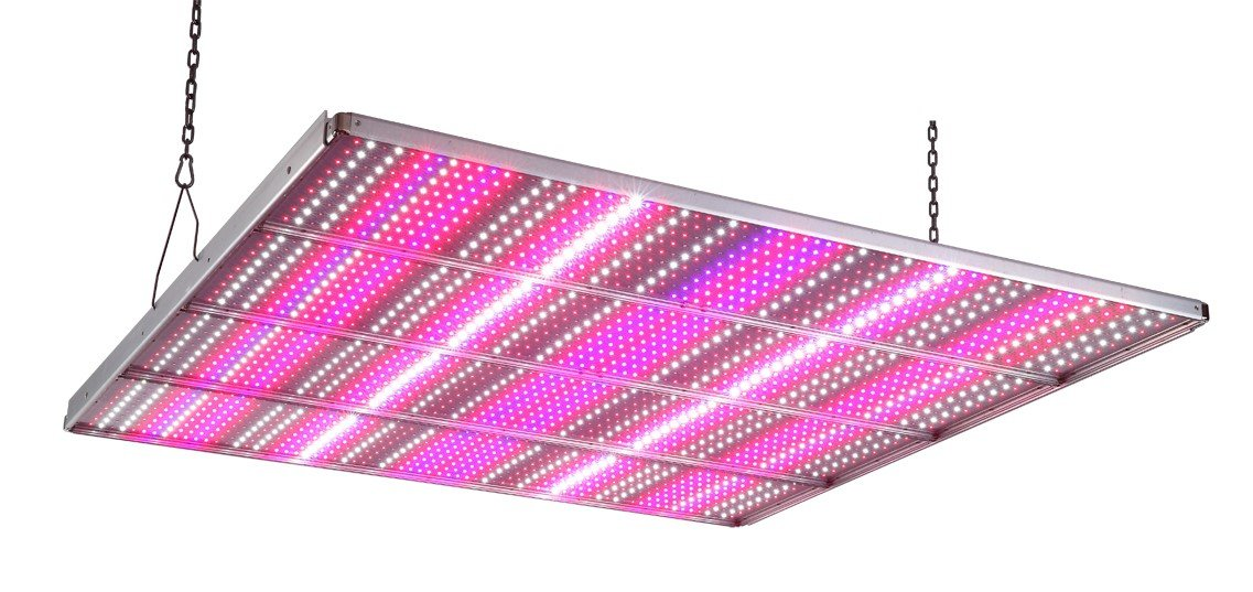 ThinkGrow Adjustable spectrums 650w LED grow light fixture with remote power supply and controller, programable timing and internet accessable for smart phone control.