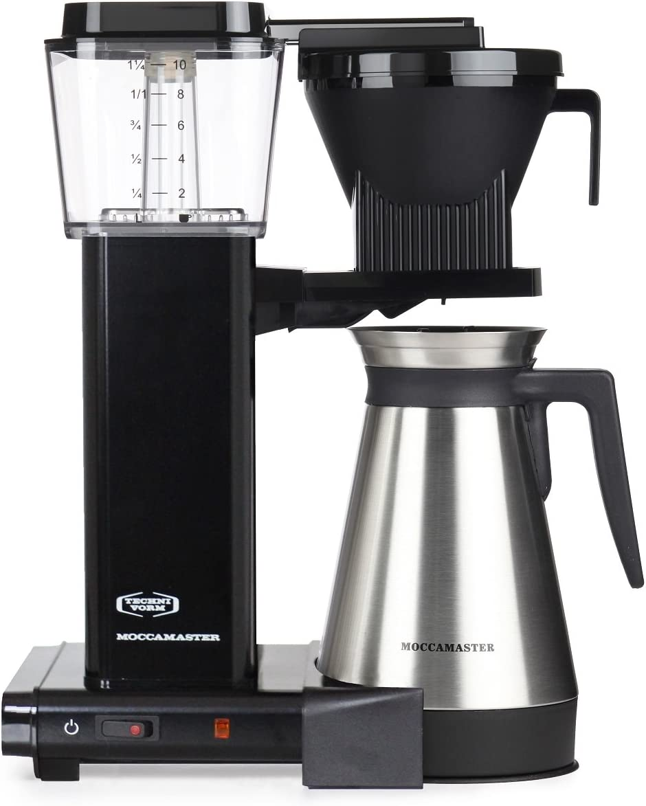 Moccamaster Filter Coffee Machine KBGT 741 -UK Plug, 1.25 Litre, 1450 W, Black