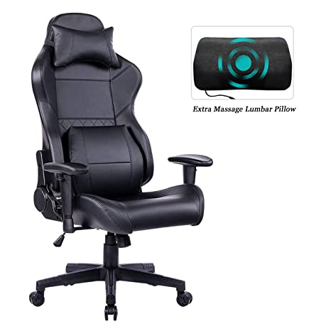 Surprising Healgen Gaming Office Chair With Large Lumbar Support Reclining High Back Ergonomic Memory Foam Desk Chair Racing Style Pc Computer Executive Leather Ncnpc Chair Design For Home Ncnpcorg