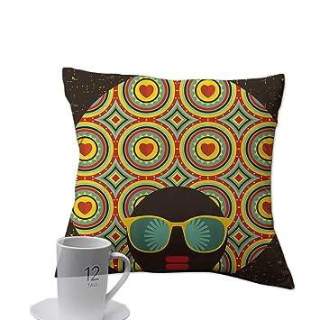 Amazon.com: Ediyuneth - Funda de cojín cuadrada, decoración ...
