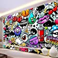 XZCWWH Custom Any Size Wall Cloth 3D Cartoon Graffiti Wall Mural Photo Wallpaper Living Room Children'S Kids Bedroom Backdrop Covering