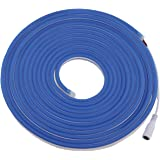 Rextin 16.4ft Dimmable Blue led Light Strip Flexible Silicone LED Neon Rope Lights DC12V IP67 for DIY Indoor & Outdoor Sign L