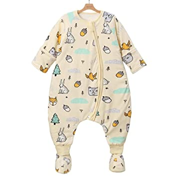 North King - Saco de dormir para bebé, algodón antipolillas, doble tela, otoño
