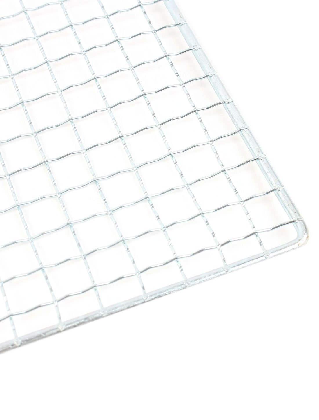 DealMux Camping Metal Rectangular Barbecue Tool Grilling Net Mesh Silver Tone