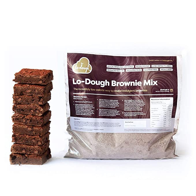 Lo Dough Brownie Mix The Incredibly Low Calorie Way To Make Indulgent Brownies 65 Calories Per Brownie Reduced Fat Low Impact Carbs High Fibre