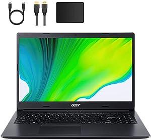 Newest Acer Aspire 3 15.6-inch Widescreen HD Laptop PC, AMD Athlon 3020E 1.2GHz Processor, 8GB DDR4 SDRAM, 128GB SSD, Stereo Speaker, HDMI, Bluetooth, Webcam, WiFi, Windows 10 w/Mazery Accessories
