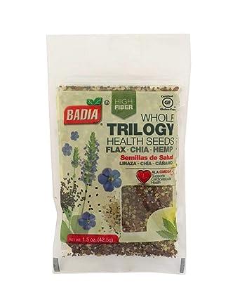 Amazon.com : 2 Bags Whole Trilogy Seeds Flax, Chia & Hemp ...