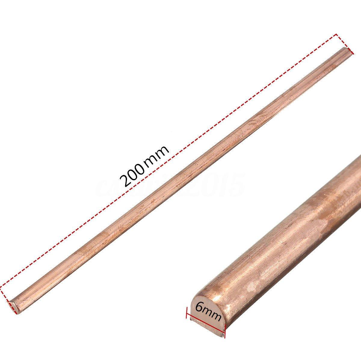 1x 99.9/% Pure Copper Cu Metal Rod Tube Cylinder Diameter 6mm Length 200mm