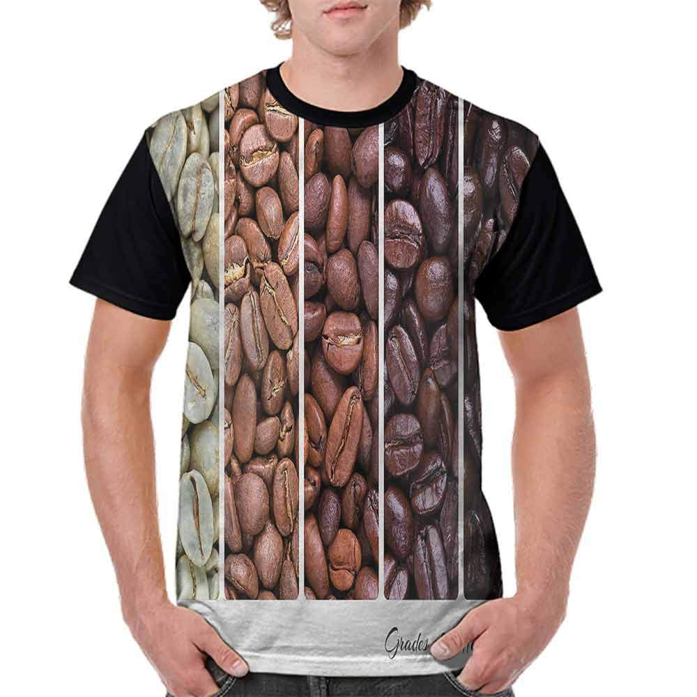 Fashion T-Shirt,Banner Stages of Beans Fashion Personality Customization