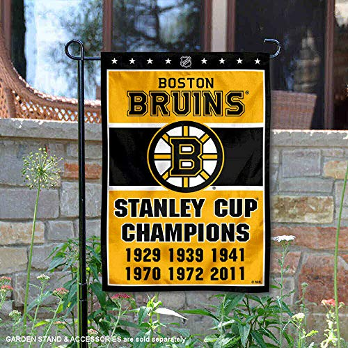 Wincraft Boston Bruins 6 Time Stanley Cup Champions Double Sided Garden Flag