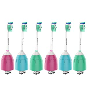 Toptheway Replacement Brush Heads - Compatible with Philips Sonicare E Series Electric Toothbrush HX7022/66, Fit Sonicare Essence, Xtreme, Elite, Advance and CleanCare, 6 Pack for Family