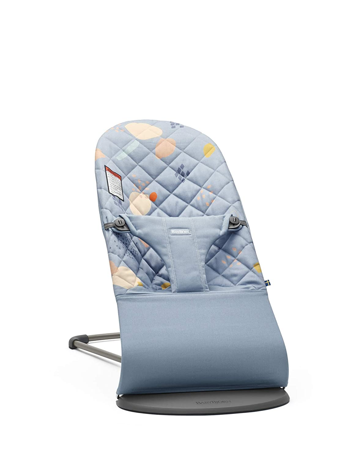 BABYBJORN Bouncer Bliss in Quilted Cotton, Confetti Blue Inc. 006074US