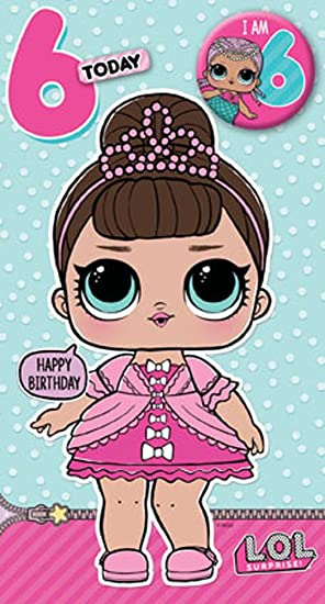 Lol Surprise Lo002 6th Birthday Card Amazon Office Products