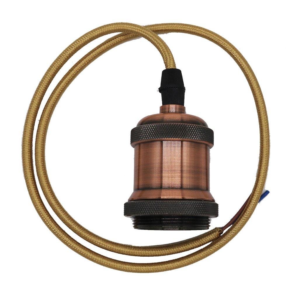 Lmpara Led Estilo Retro E27 85 265 V Aluminio Color Negro Brass Copper Lamp Holderwireceiling Base Pendant Light Without Portalmparas De Techo Con