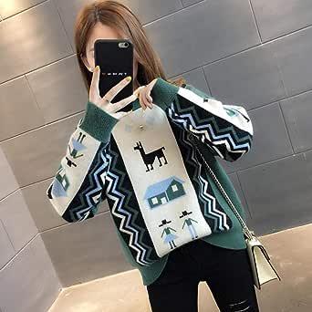 Jingyinyi Suéter Suelto, Navidad Salvaje, Camisa de Moda