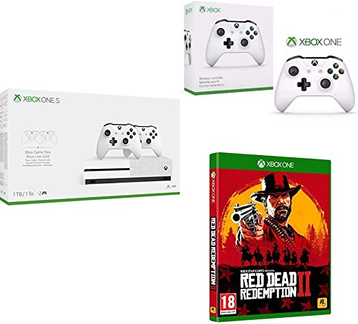 Microsoft Xbox One S - Pack Con Consola 1 TB, 2 Mandos y 3 Meses ...