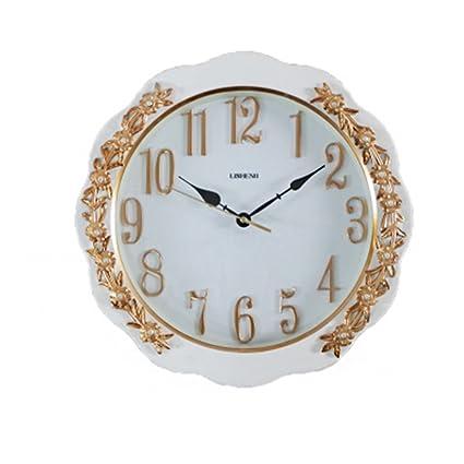 ZHB Reloj Los Relojes de Pared salón Moderno Mudo Reloj Sencillo Reloj de Bolsillo Personalidad Continental