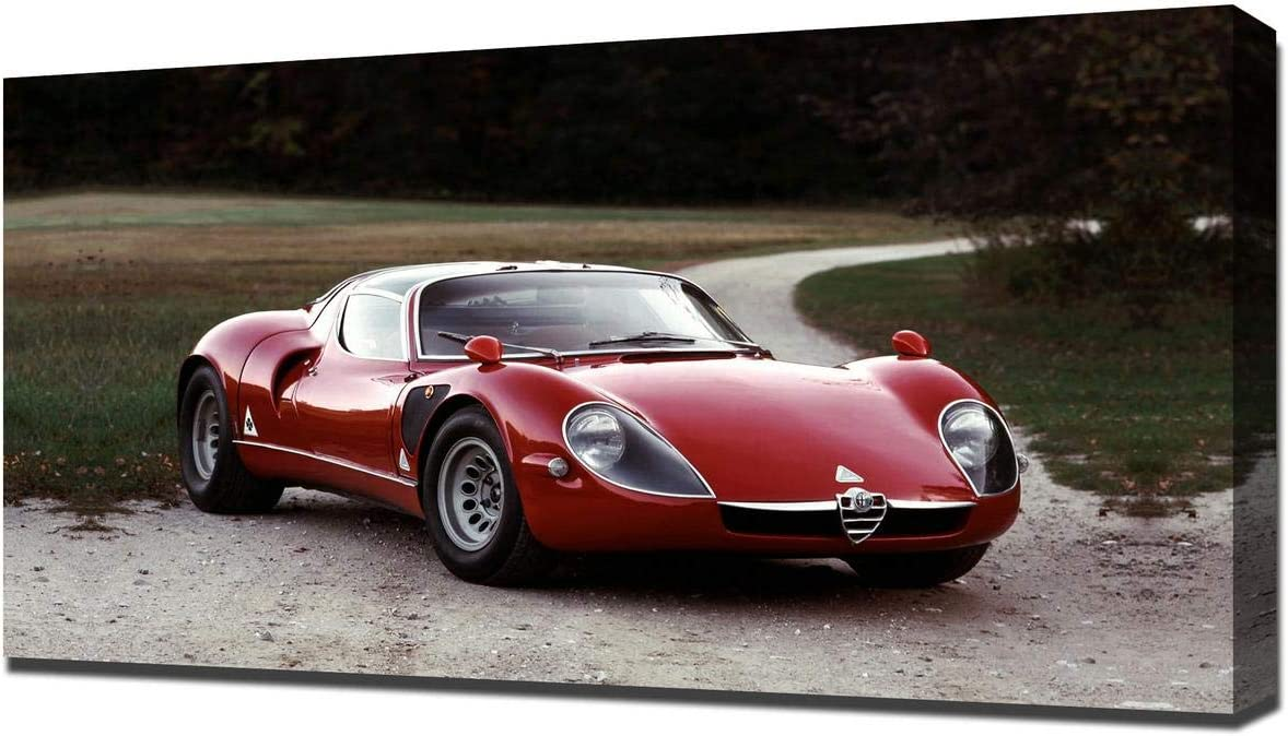Lilarama USA 1968 Alfa Romeo Tipo 33 Stradale V1 - Canvas Art Print - Wall Art - Canvas Wrap