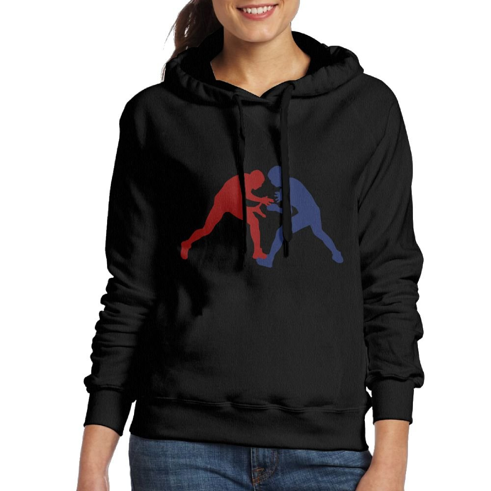 Hoodies for Women's Greco Roman Wrestling Flag Hooded Pullover Sweatshirts