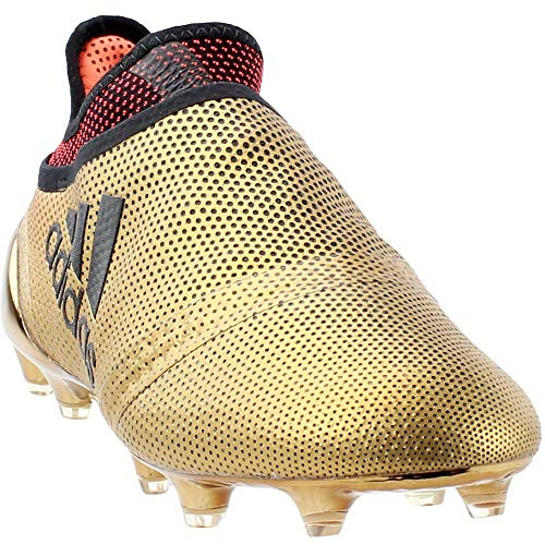 adidas Mens X 17+ PureSpeed Firm Ground Soccer Athletic Cleats Gold 10.5