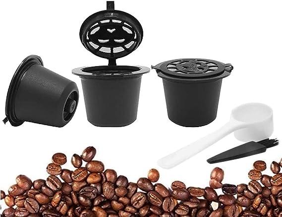 Koksi - Juego de 3 cápsulas de café Nespresso reutilizables ...