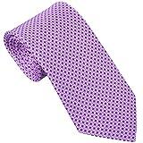Sebastien Grey Men's 7-Fold Silk Tie (Lavender Purple Stained Glass)