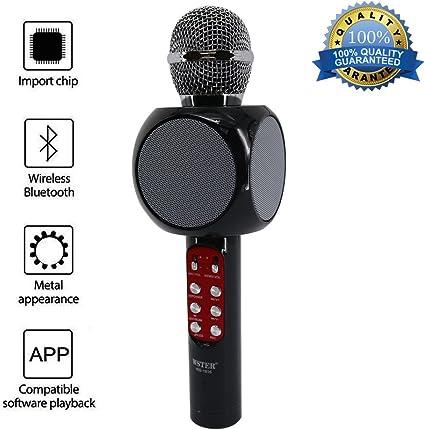 JDSenYe Wireless Karaoke Microphone, Altavoz portátil Bluetooth ...