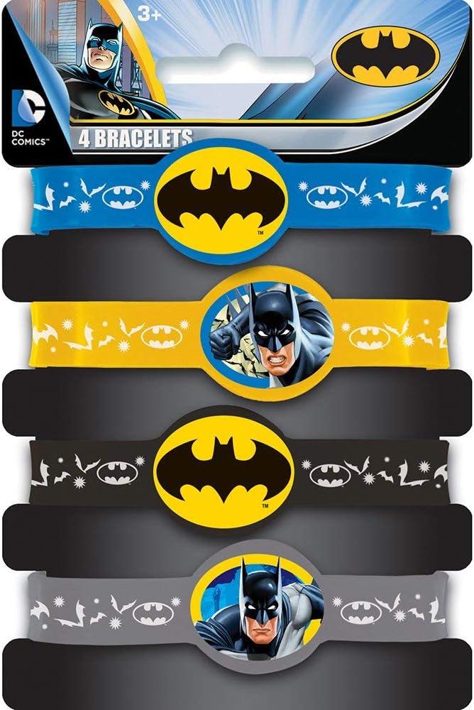 KULTFAKTOR GmbH Batman-Armb/änder Lizenzartikel 4 St/ück bunt Einheitsgr/ö/ße