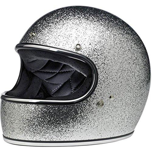 Silver Performance Street Helmet - Biltwell Gringo Mens Street Motorcycle Helmet - Silver/Medium