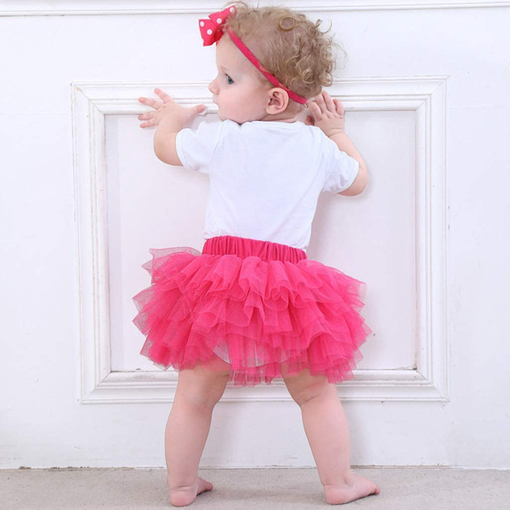 Baby Girls Infant Tulle Tutu Princess Skirt Bowknot Tiered Pettiskirt Petticoat Photo Photography Prop Ballet Dancewear
