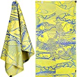 4MONSTER Microfiber Beach Towel for Travel - Quick Dry Super Absorbent Lightweight Towel for Swimmers, Sand Free Towel, Beach Towels for Kids & Adults, Pool, Swim, Water Sports, 63x31''