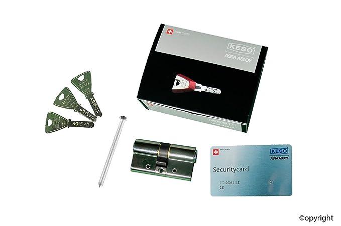 KESO 4000S Omega 41.716 30/40 (exterior/interior) incluido 3 llaves: Amazon.es: Bricolaje y herramientas