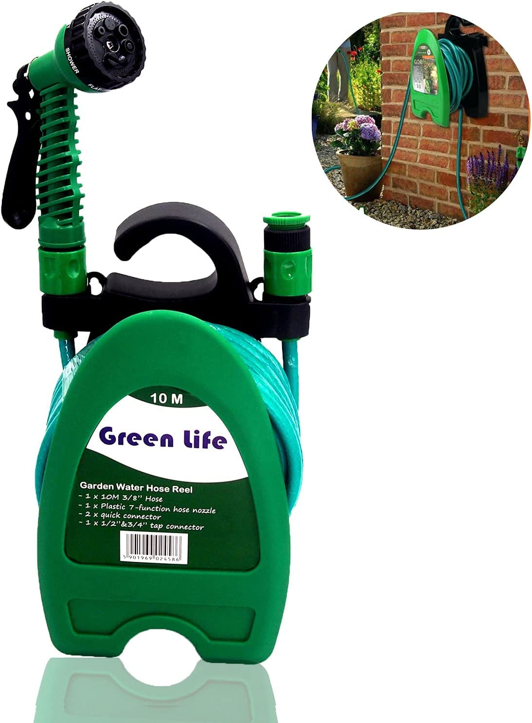 33FT EVA Expandable Garden Hose, Retractable Water Hose Garden Hose with 7 Pattern Nozzle Sprayer for All Watering Needs