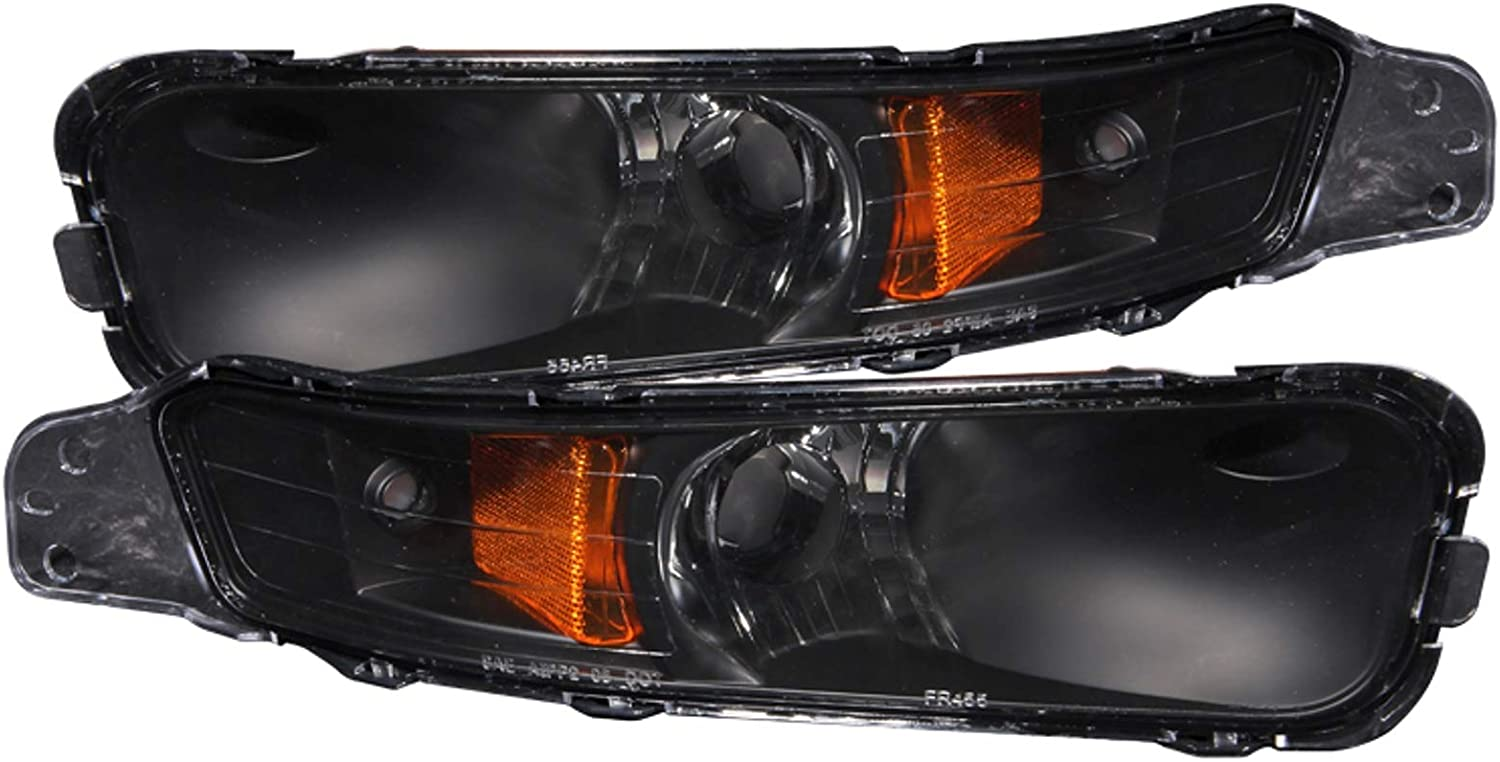 Anzo USA 511002 Ford Mustang Bumper Light Assembly Black with Amber Reflector - (Sold in Pairs) 612bAw3y0qL
