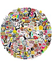 Sticker Pack 150 pcs, Cute Aesthetic Stickers, Street Fashion Sticker, Vinyl Waterproof Cartoon Graffiti Stickers for Skateboard, Pad, Phone, Loptop, Luggage, Bicycle, Guitar Scrapbook Stickers