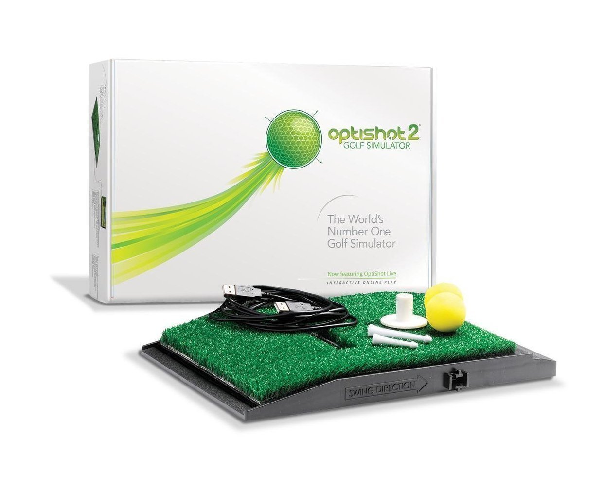OptiShot 2 Golf in A Box | Indoor Golf Simulator with Net and Mat