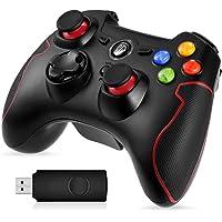 EasySMX Gamepad para PC, [Regalos] Mando Inalámbrico PS3 Gamepad Wireless Compatible con Windows XP y Vista, Windows 8, PS3, Android y Operación Rango hasta 10M (Rojo)