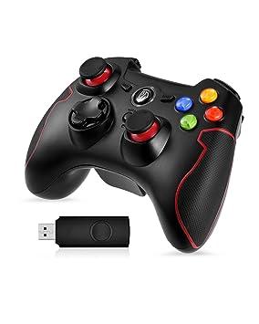 EasySMX Gamepad para PC, [Regalos de Reyes] Mando Inalámbrico PS3 Gamepad Wireless Compatible con Windows XP y Vista, Windows 7/8 /8.1/10, PS3, ...