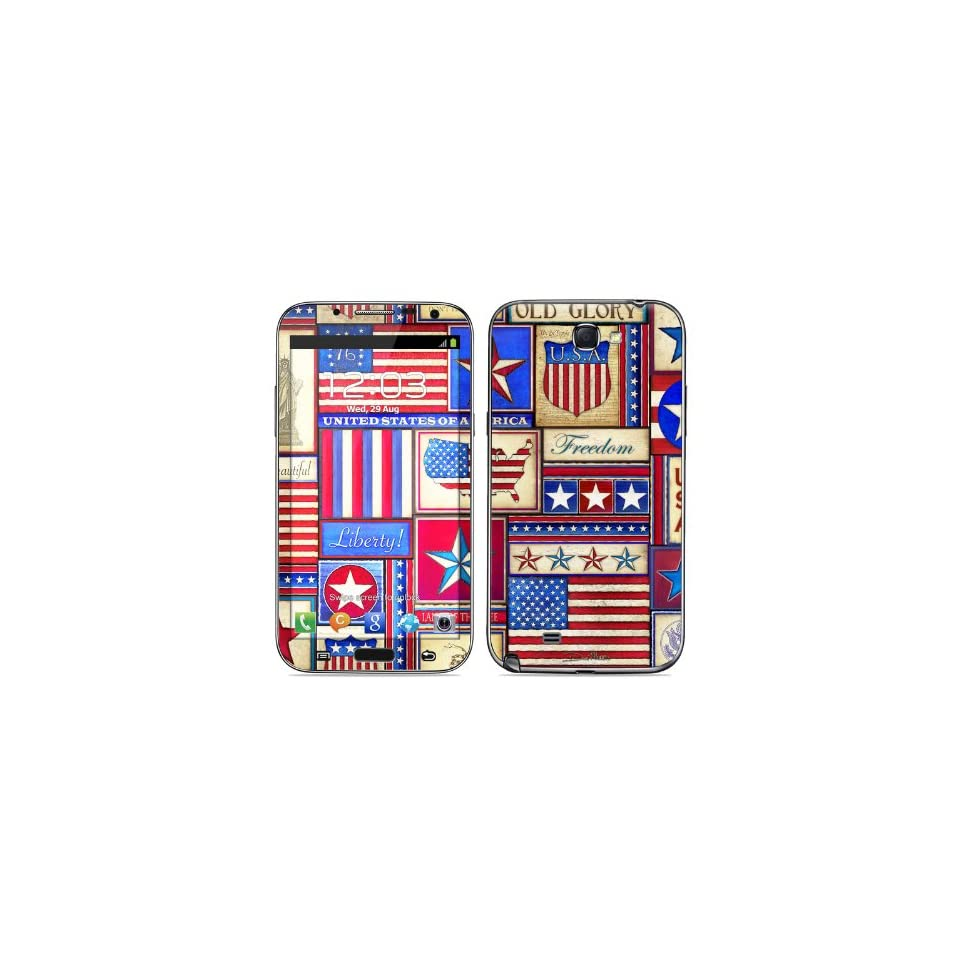 Flag Patchwork Design Protective Decal Skin Sticker (High Gloss Coating) for Samsung Galaxy Note II GT N7100 Cell Phone Cell Phones & Accessories