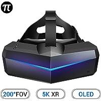 Pimax 5K XR OLED VR Casque de Réalité Virtuelle, avec Un Champ de Vision de 200°, Double Moniteur OLED 2560x1440p, 1-Année de Garantie,[Casque Seulement]