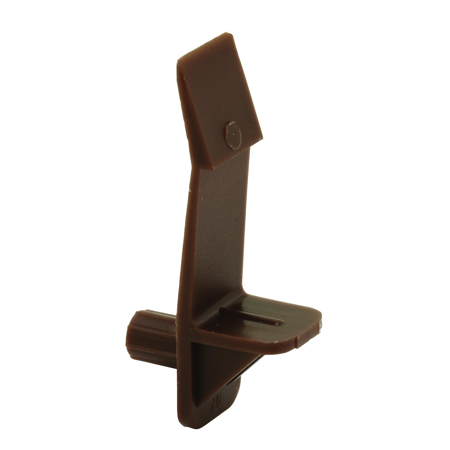 Prime-Line MP9117-100 Self-Locking Support Peg with 3/4-Inch Shelf, 1/4-Inch, Brown, Pack of 100, 100 Piece