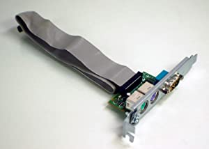 AquamoonTrading Genuine OEM DELL XPS 400 410 600 Serial + Dual PS/2 Expansion I/O ADD-in Full Height High Profile Card W/Cable Board Assembly JF224