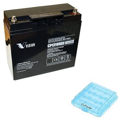 Batería de plomo gel Vision cp12180dx PB Tecnología AGM 12 V 18 Ah resistente a los ...