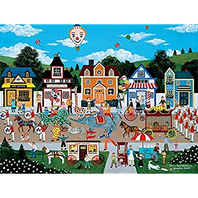 Circus Pandemonium Puzzle by Jane Wooster Scott - 300 Pieces: Toys & Games