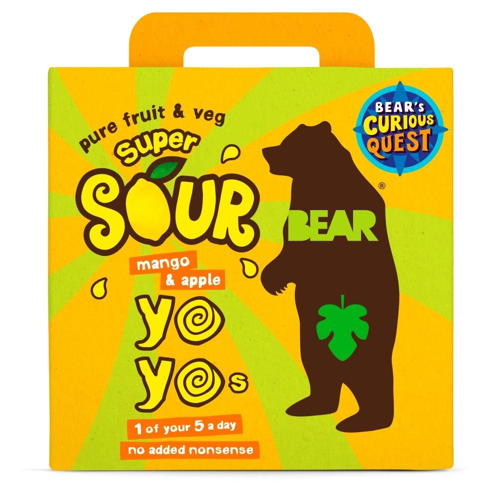 Bear Yo Yo's Super Sour Mango And Apple 10 Fruit Rolls