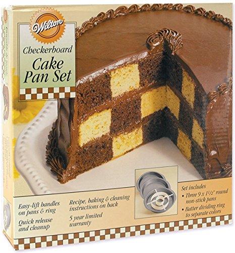 Wilton Checkerboard Cake Pan Set; New; (Cake Pan Checker)