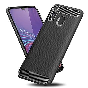 TopACE Funda para Samsung Galaxy A40,Funda Móvil de Fibra de Carbono Carcasa Móvil Cepillada de Silicona Suave Simple Ligera y Anti-caída Protector ...