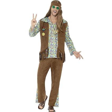 Amakando Traje Hippie Varones - S (ES 44/46) | Disfraz Hippy ...