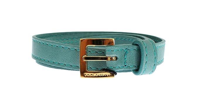 Dolce   Gabbana - Vert Cuir Doré Boucle Logo Ceinture  Amazon.fr  Vêtements  et accessoires 3164ad96567